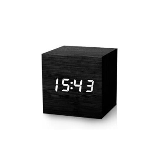 摩门(Momen) 木头时钟电子闹钟图片